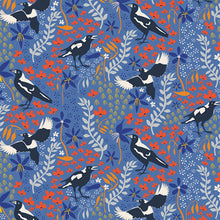 Load image into Gallery viewer, Merry Magpies on Blue