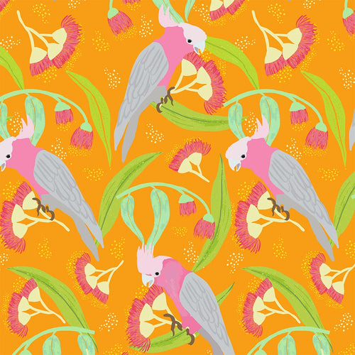 Galah Fabric ~ Tropical Orange