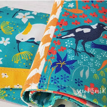 Load image into Gallery viewer, Cockatoo fabric ~ Aqua