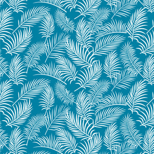 Tropical Fern Fronds ~ Blue