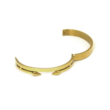 ESBG 4753: Hard Double Twist Bangle w/ Arrow Ends