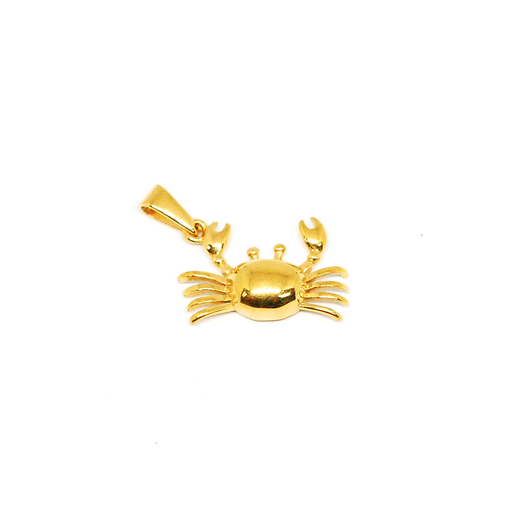ESP 4885: Gold-Plated Happy Crab Pendant