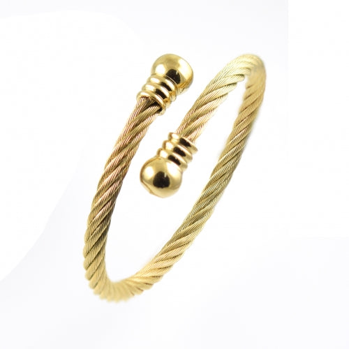 ESBG 4960: Twisted Charriol w/ Gold Plated Round Ends