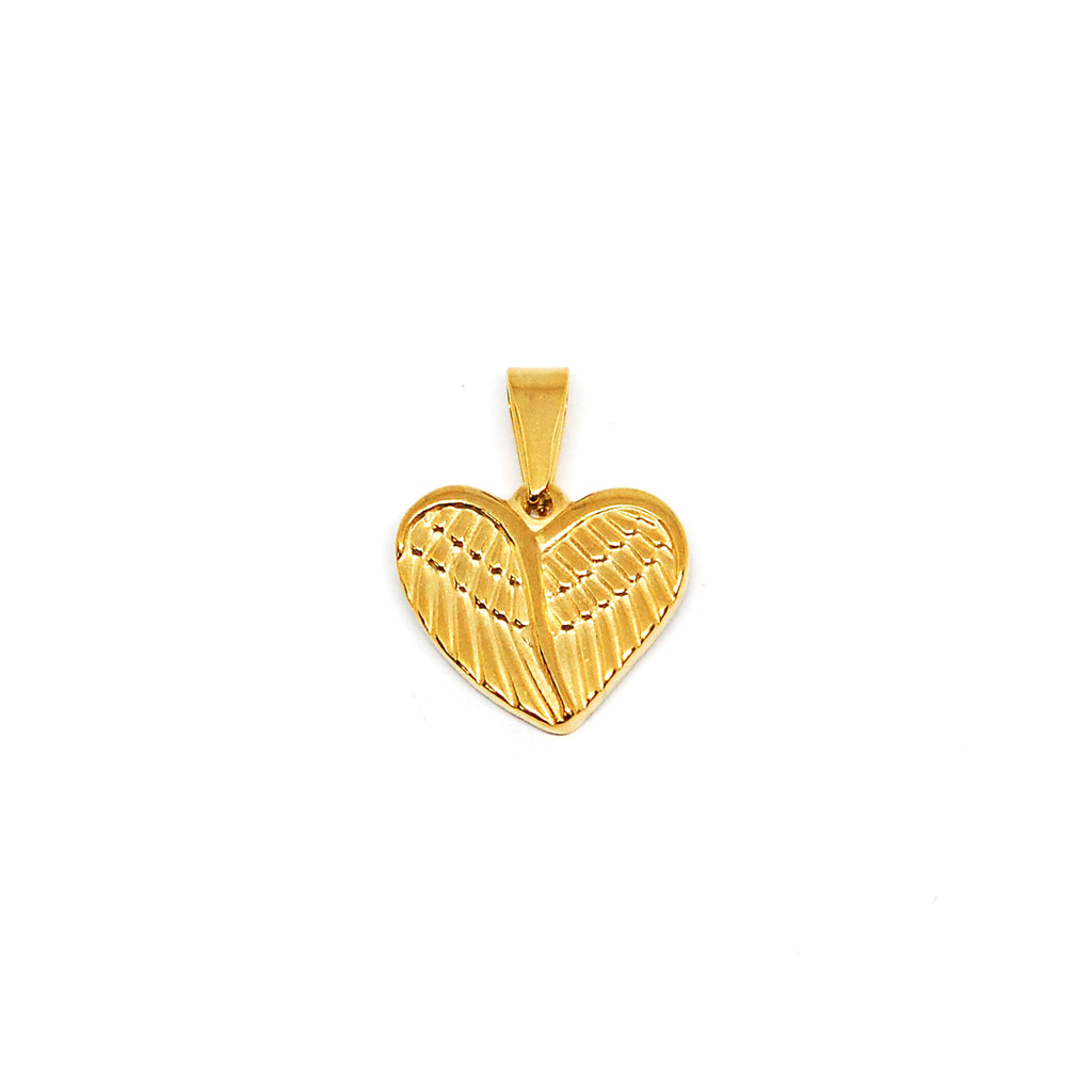 ESP 5412: Gold Plated Double-Sided Winged Heart Pendant