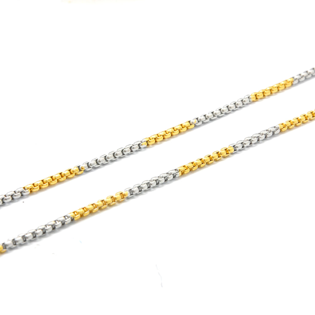 "ESCH 5487: 18.5"" 2-Tone Tight Non-Stretch Rolo Chain (1mm)"