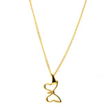 "ESN 5520: Gold Plated Playful Butterfly w/ 19"" P/O Chain"