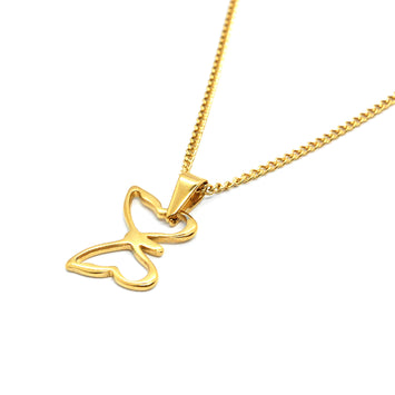 ESN 5520: Gold Plated Playful Butterfly w/ 19