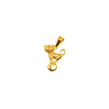ESP 5779 : Gold PLated Cat on a Ball Yarn Pdant