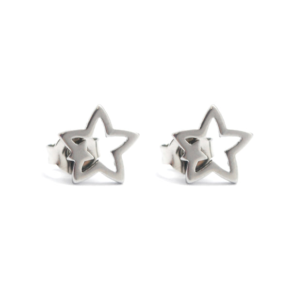 ESE 5882: Big Star Small Star Stud Earrings