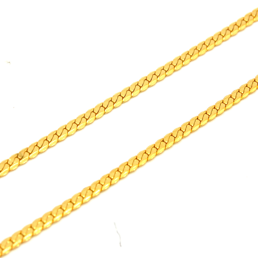 "ESCH 6210: 19.5"" Gold-Plated Non-Stretch Thin Omega Chain"