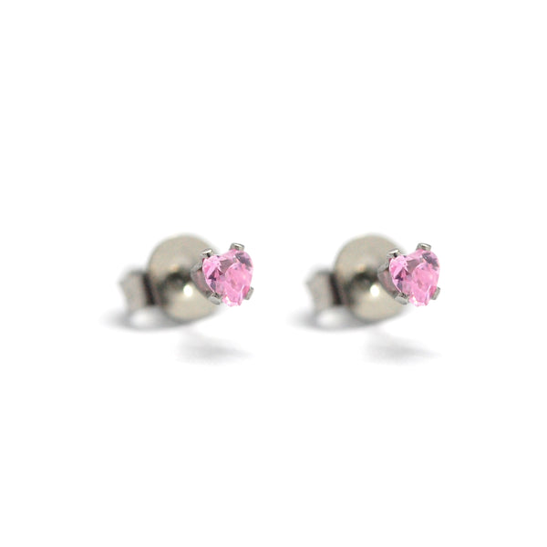ESE 6283: Penny 3mm Pink Heart Cz Studs