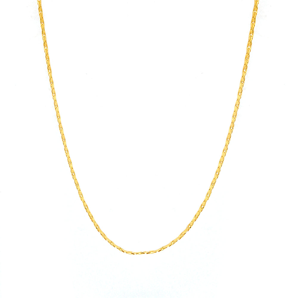 "ESCH 6370 : 18"" Gold Plated Non-Stretch Ultra-Thin Boston Link Chain (1mm)"