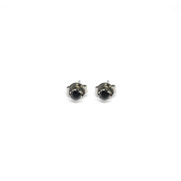 ESE 6508 : Black Molly Circle Cz Studs (3mm)