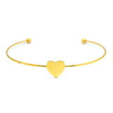ESBL 6598: Gold-Plated Ultra-Thin Bangle w/ Heart Center