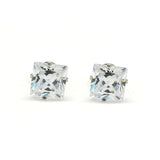 ESE 6616: Tanya 7mm Princess Cut Cubic zirconia Stud Earrings