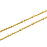 "ESCH 6679: 19"" Gold Plated Rounded Snake Chain w/ Bar Accents"