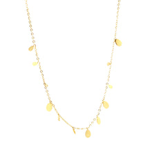 ESN 6681: Gold Plated 12-Mini Teardrop Ultra-Delicate Necklace