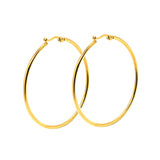 ESE 6685: Gold Plated 48mm Large Round Hoop Earrings