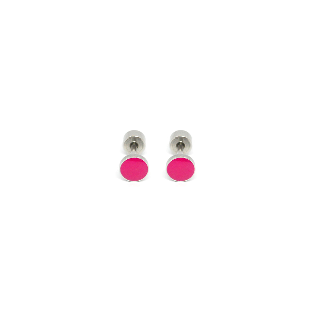ESE 6694: Playful Dot Studs w/ Child Safe Chapita
