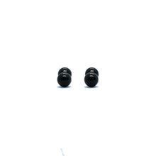 ESE 6701: All Black 4mm Aira Studs w/ Child Safe Chapita