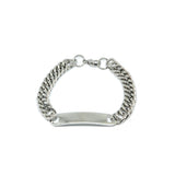 ESBL 6706 : 7.5mm ID Nameplate Cuban Link Bracelet (8mm Thick)