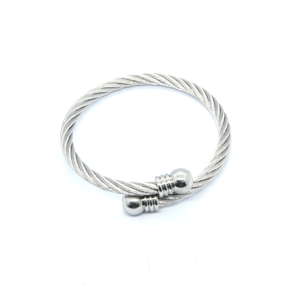 ESBG 6713: Twisted Charriol Bangle w/ Round Ends