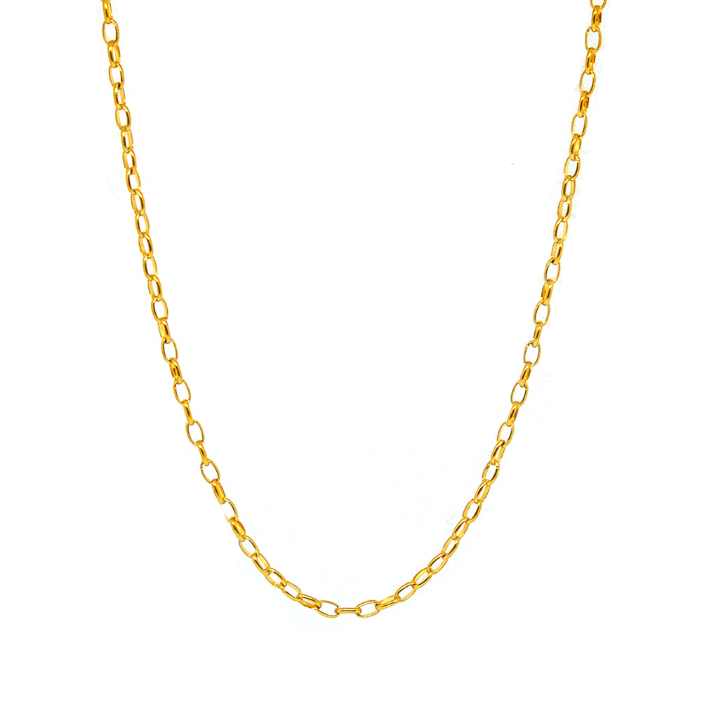 "ESCH 6739 :19"" Gold Plated Elongated Round Link Chain"