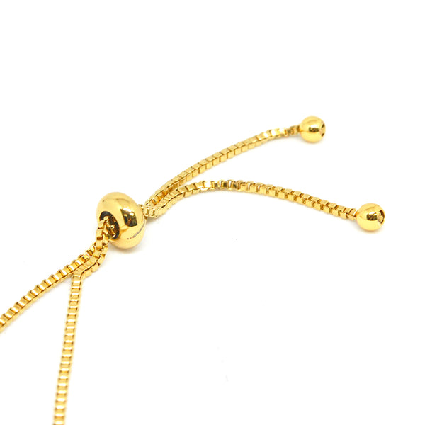 ESBL 6759 : Gold Plated 3-Cz Studded Sweet Butterflies Adjustable bracelet
