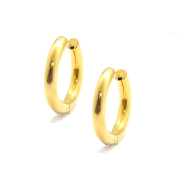 ESE 6769: Gold-Plated Extra-Thick 30mm Hoops