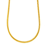"ESCH 6771: 23"" Gold-Plated Round Wheat Chain (3mm)"