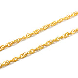 "ESCH 6777: "" Gold Plated Thin Water Wave Chain"