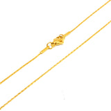 "ESCH 6853 :  18.5"" Hard Non-Stretch Gold PLated Ultra-Thin Crimpable Chain"