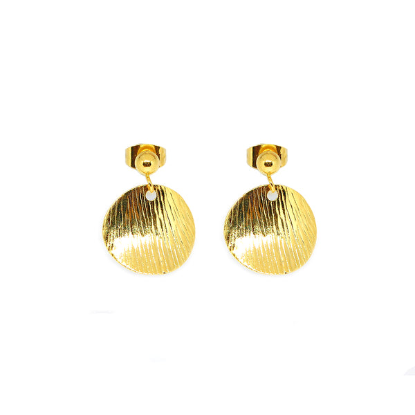 ESE 6876 : Gold Plated Elegant Filipiniana Circle Earrings