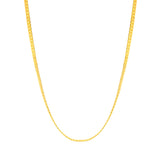 "ESCH 6890 :  19.5"" All Gold Plated Non-Stretch Tight Cuban Link (3mm)"
