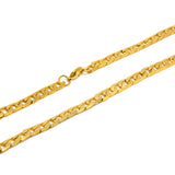 "ESCH 6895:  24"" All Gold Plated Etched Cuban Link Chain (6mm)"