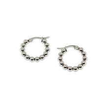ESE 6960: 12-Ball Hoop Earrings (22mm)