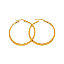 ESE 6989: Gold Plated 38mm Flat Hoop Earrings