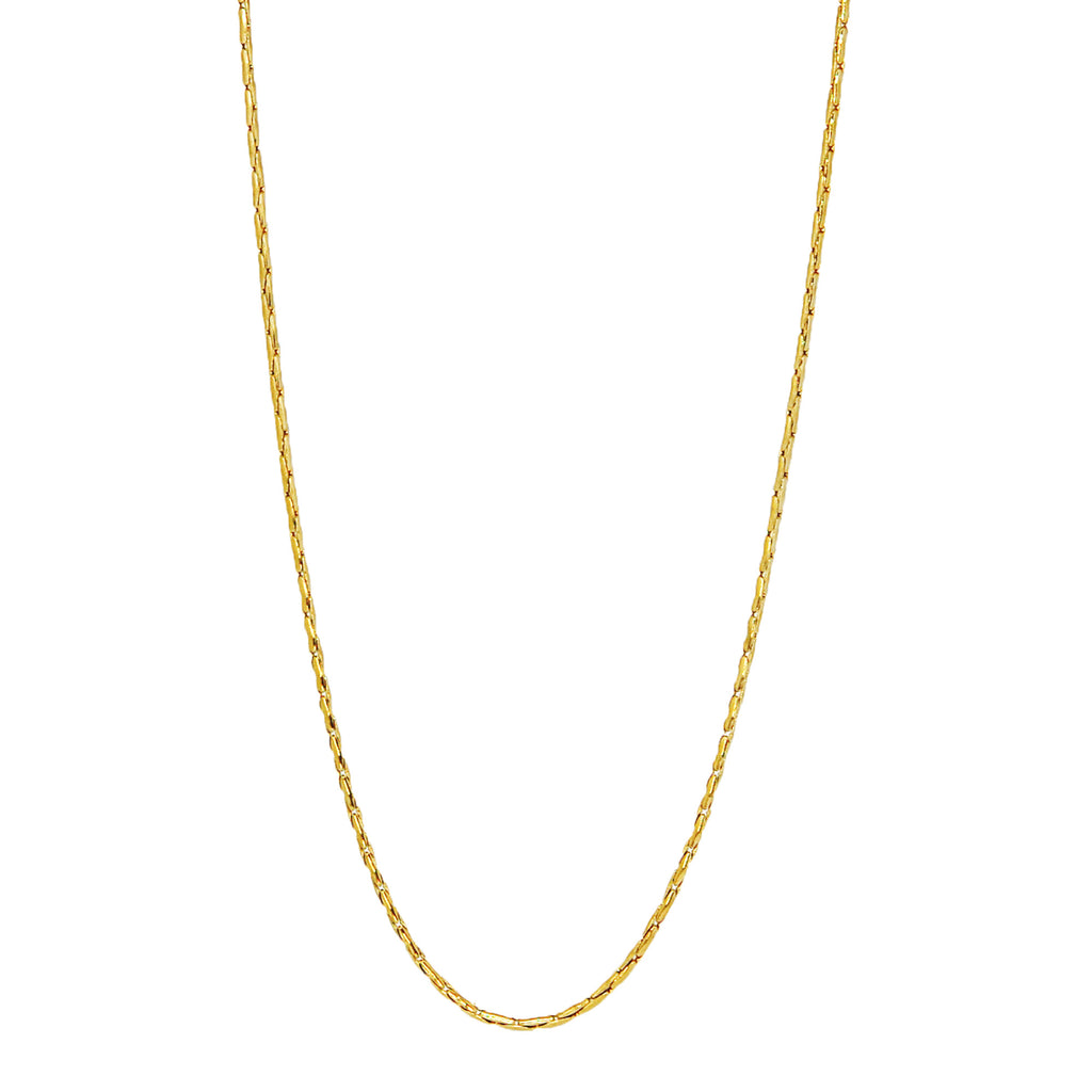 "ESCH 6977: 19"" Non-Stretch Gold-Plated Barleycorn Chain"
