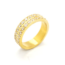ESR 6341: Anna Gold Plated 2-Band Eternity Ring