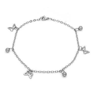 ESA 5013: Butterfly & Balls Anklet