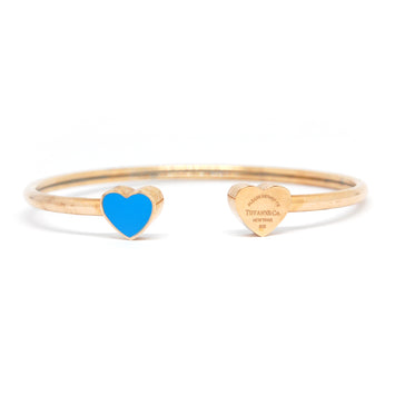 ESBG 6001: Classic R/G Bg w/ Tiffany Blue Heart Ends (Rose Gold)