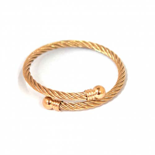 ESBG 4961: Rose Gold Twisted Charriol Bangle w/ Round Ends