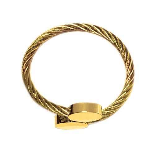 ESBG 5582: Gold Plated Charriol Bangle w/ Long Oval Ends