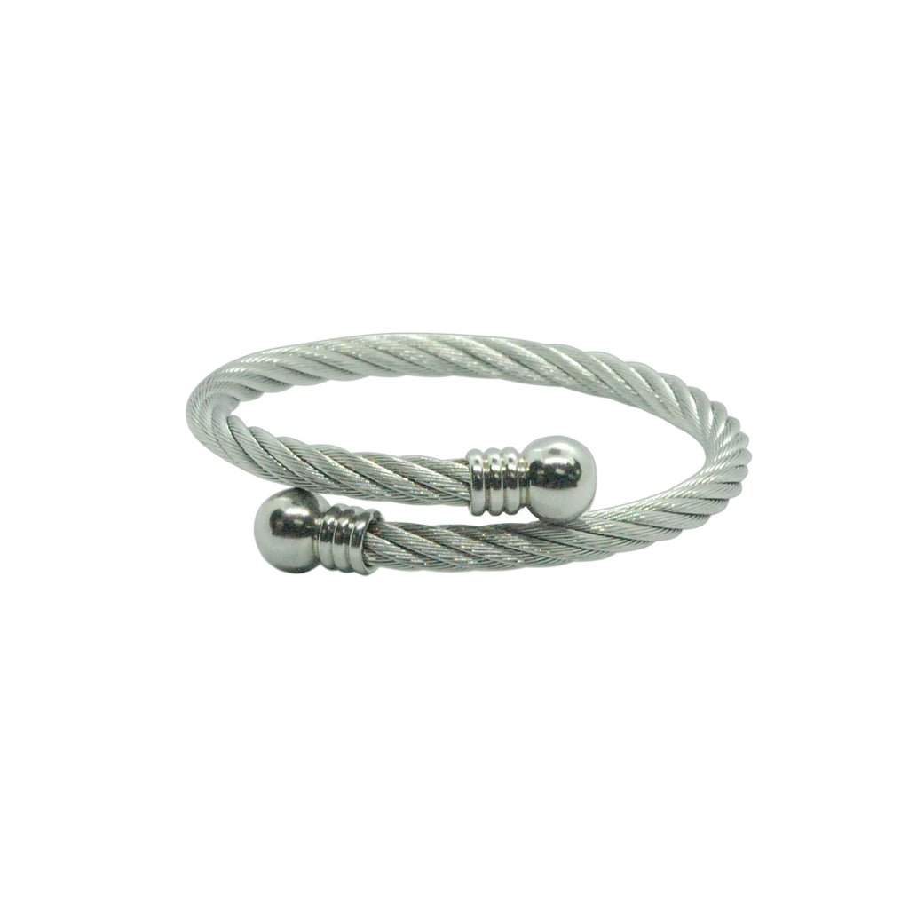 ESBG 5910: Twisted Rope Bangle w/ Round Ends