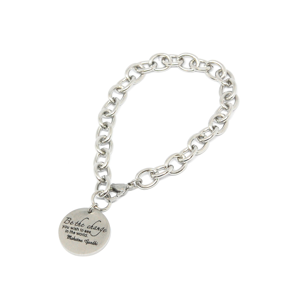 "ESBL 5584: Large Linked ""Be The Change"" Bracelet"