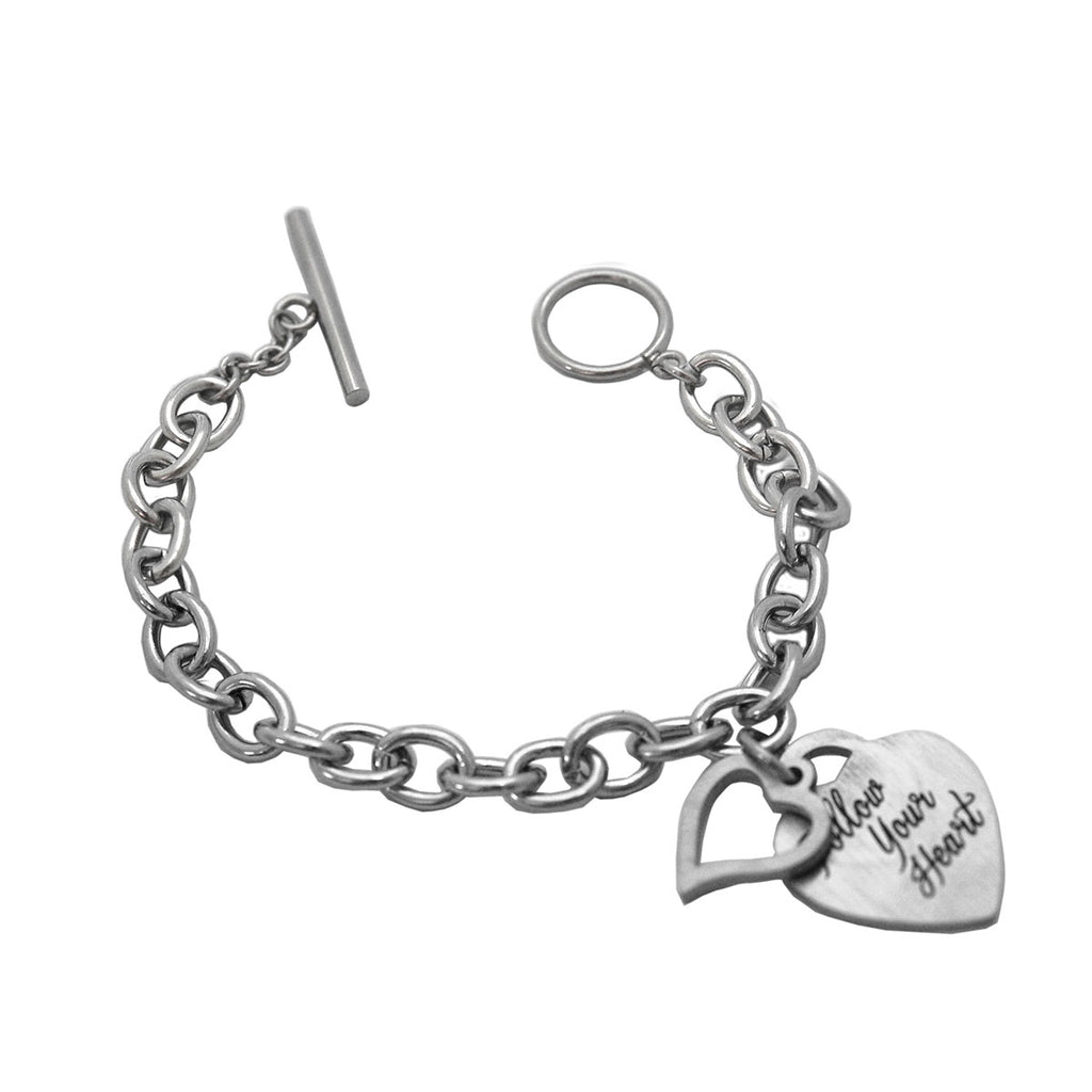 ESBL 5339: Follow Your Heart Double Love Large Link Bracelet