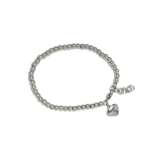 ESBL 5581: 50 Steel Ball w/ Baby Heart Charm