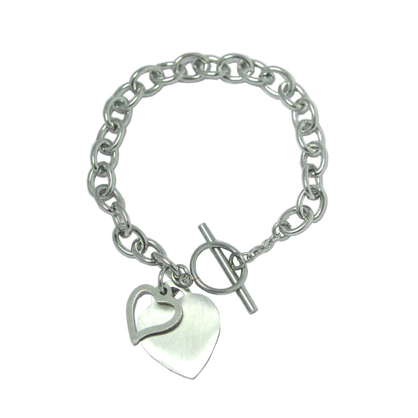 ESBL 5703: Large Link w/ Double Heart Charm