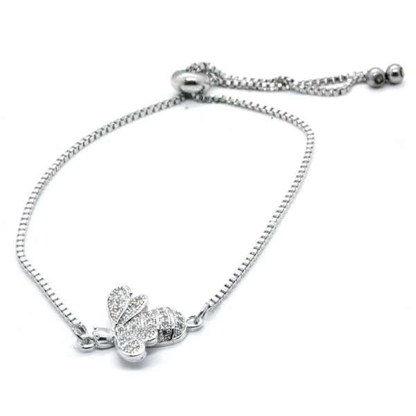 ESBL 6038: Happy Bumble Bee Cubic zirconia Studded Adjustable Bracelet