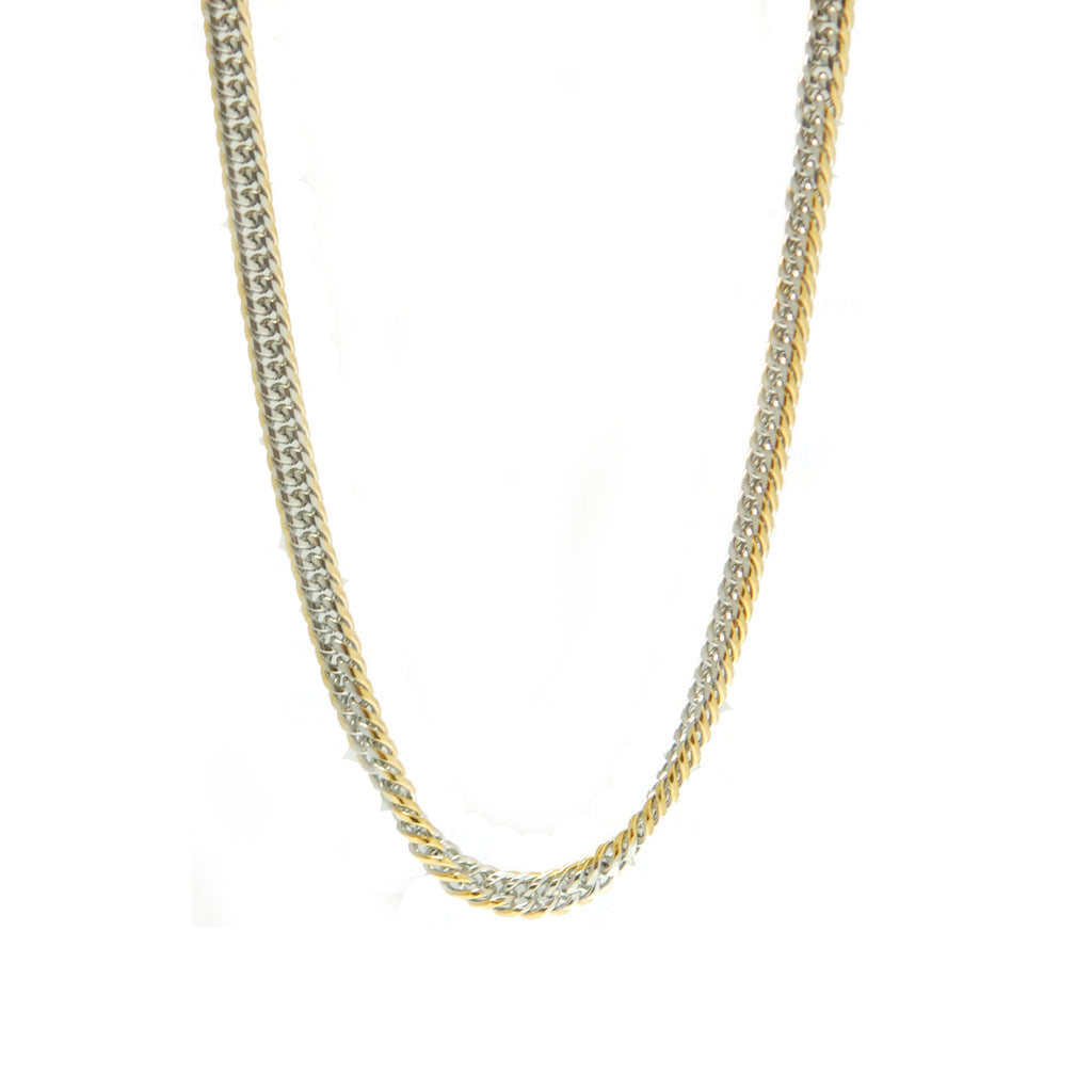 "ESCH 5852: 23"" Gourmette Chain w/ Gold PLAted Edges (4mm)"